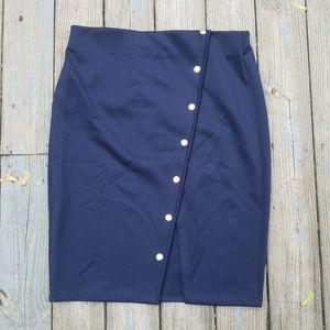Eloquii 18 Pencil Skirt Button Slit
